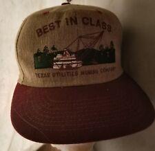 Vtg Texas Utilities Mining Trucker Cap Best In Class 1999  Course USA Regal