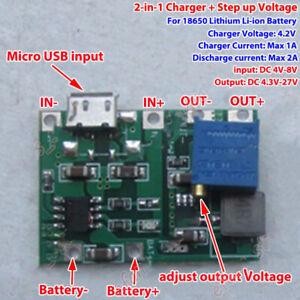 USB 3.7V Lithium Li-ion 18650 Battery Charger Module 4.2v Boost Step up 5v 12v
