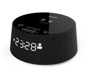 PHILIPS Digitaler Wecker TAPR702/12 Bluetooth 10W integriertes Qi-Ladegerät