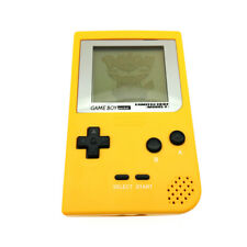 Silver Screen Lens Yellow Game Boy Pocket Game Console + Game Card