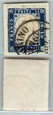 REGNO - 15c MATRAIRE (11) doppio annulamento orig. - Torino 7.5.1863 - U