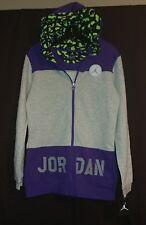 Jordan Girls Tunic Length Full Zip Hoodie Size XXL Ultra Violet # 452899 527