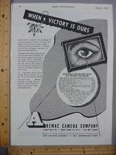 Rare Orig VTG 1945 Aremac Camera Walt Disney Willoughby's Advertising Art Print