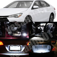 12x LED Interior Lights Map Dome Trunk License plate Kit White for Toyota Camry