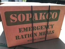 Case/14 SOPAKCO MRE Reduced Sodium Emergency Ration Meals Ready to Eat 12/17