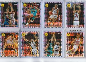 90'S INSERTS LOT (8) 1996-97 TOPPS DRAFT REDEMPTION ROOKIES RC CAMBY MARBURY