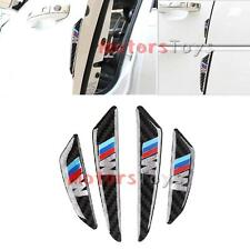 JDM Black Real Carbon Fiber Side Door Edge Protection Guards Trims Stickers