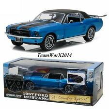"""Greenlight 12965 1967 Ford Mustang Coupe """"Ski Country Special"""" Vail Blue 1:18"""
