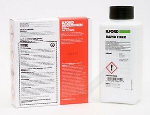 Ilford Microphen & Rapid Fixer 500ml Black & White Powder Film Developer Kit
