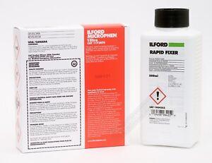 Ilford Microphen & Rapid Fixer 500ml Black & White Powder Film Developer Kit