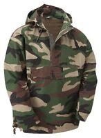 Woodland Military Army Style Smock Winter Hooded Windbreaker Anorak Jacket Coat