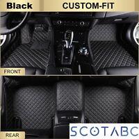 Car Floor Mats for Audi A3 ,All Weather Waterproof Carpets Custom Fit-Black