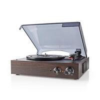Nedis 3 Speed Retro 1970's Vinyl LP Record Player 33 1/3 45 78 RPM MP3 Converter