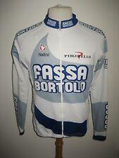 Fassa Bortolo Italy nalini LS jersey shirt cycling maglia ciclismo size 3, M