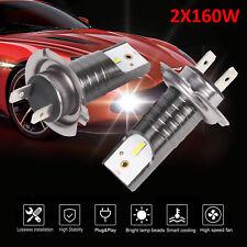 2Stk H7 LED Headlight Scheinwerferlampen Kit Hoch Oder Abblendlicht 160W 28200LM