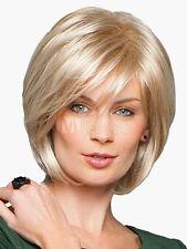 100% Real Hair! Stylish Women Blonde Short Natural Straight Wig Human Hair