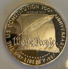 1987-S $1 US CONSTITUTION GEM PROOF !!  TRUE AUCTION FREE SHIP !