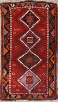 Antique Geometric Caucasian Kazak Russian Oriental Wool Rug Tribal Carpet 5'x8'