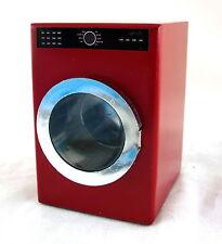 Casa Delle Bambole Miniatura 1:12 Scala Cucina Lavanderia Mobili Rossi Lavatrice