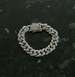 ICED Miami Cuban Link Chain Bracelet Mens Hip Hop Jewelry