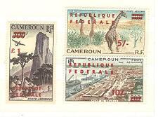 CAMEROUN  REPUBLIQUE TIMBRES  PA N° 49 à 51 SURCHARGES NEUFS SANS CHARNERES