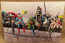 "Superhero Girder 18"" x 13""  on Wooden Stretcher Frame, hulk.marvel characters"