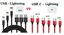 Fast Charging USB-C to Lightning Cable Cord for Apple iPhone 11 Pro Max XS 8 7