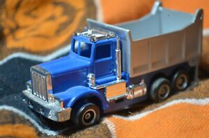 Tyco US1 Electric Trucking Blue Dump Truck Slot Car
