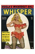 New Pin Up Girl Poster 11x17 Whisper Magazine November Nylons and Hearts