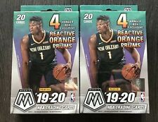(2) Panini 2019-20 Mosaic NBA Basketball Trading Cards, Hanger Box - 20 Cards