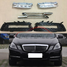 6pc For Mercedes Benz W212 E250 300 350 2009-2013 LED Daytime Running Fog Lights