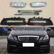 6pc For Mercedes Benz W212 E250 300 350 2009-2013 LED Daytime Running Fog Lights