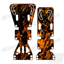 T-Maxx / E-Maxx INTEGY Skid Plate Protectors Digital Flames -Orange- Traxxas