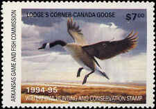 ARKANSAS #14 1994 STATE DUCK STAMP CANADA GOOSE by Daniel Smith
