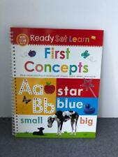 Ready Set Learn - First Concepts - Preschool Dry Erase Book