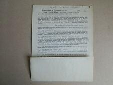 Tapuscrit contrat d'éditions Allen & Unwin THE BATTLE OF BRITAIN Bishop 1960