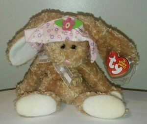 Ty Beanie Baby - SUNBONNET the Bunny Rabbit (7.5 Inch) MINT with MINT TAGS