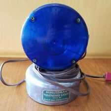 Vintage Rare Minuteman Blue Flashing Warning Light Fire Rescue 12V Roof Top PGH
