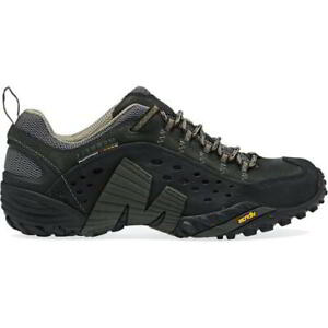 Merrell Intercept Mens Black Breathable Walking Hiking Trainers Shoes Size 7-14