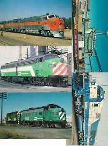 Five (5) US Railway Cards New Unused From Railcards California Lot No 6