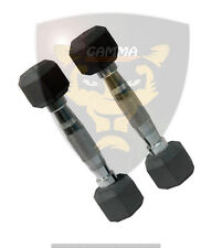 Gamma fitness 2.5 kg hex dumbbell, total 5 kg weight