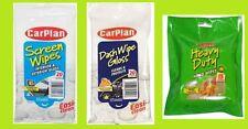 3 packs carplan wipes  1 x  Windscreen wipes 1 x hand wipes 1 x dash wipes gloss