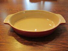 Le Creuset Oval Au Gratin Ceramic Casserole Dish, Cerise (Red)