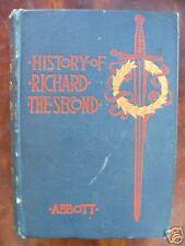 History of King Richard the Second Jacob Abbott 1886 HC