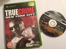 2 ORIGINALE XBOX Games WRECKLESS la Yakuza missioni + True Crime: NEW York City