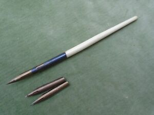 Antique dip pen, ivory-coloured handle