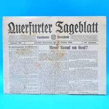 Querfurter Tagesblatt 28. Oktober 1920   28.10.1920 Geburtstag Querfurt