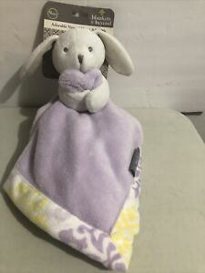 Blankets and beyond bunny with Purple security blanket lovey