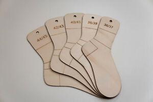 Sockenbretter Set 36-45 Sockenspanner Sockenschablone Strickhilfe