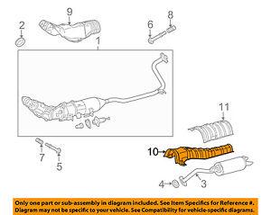TOYOTA OEM Exhaust-Heat Shield 5815347030